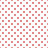 Кройте картину черепицей вектора с красными точками польки на белой предпосылке иллюстрация вектора