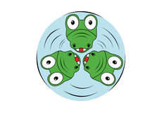КРОКОДИЛ искусства вектора логотипа крокодилов бесплатная иллюстрация