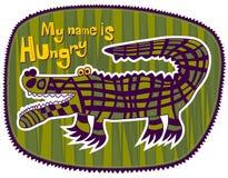 Крокодил голодный иллюстрация штока