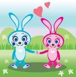 кролики влюбленности иллюстрация штока