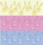 """Кролики в форме яя, зайчиков 3 - """"цвета s иллюстрация штока"""