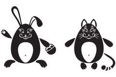 кролик кота Иллюстрация вектора