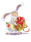 кролик мальчика иллюстрация штока