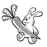 кролик моркови Стоковое Фото