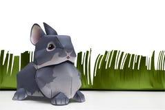 кролик пасхи бумажный стоковая фотография rf