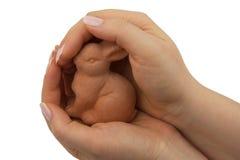 кролик пасхи глины стоковое изображение