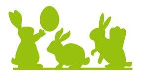 Кролик пасхи, иллюстрация вектора зайчика пасхи Стоковые Изображения