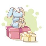 кролик подарков plushy Стоковая Фотография RF