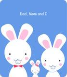 кролик семьи Стоковая Фотография