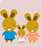 кролик семьи Стоковые Фото