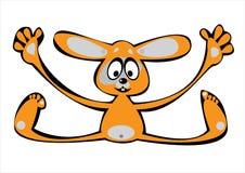 Кролик шаржа вектора померанцовый изолированный на белизне Стоковое Изображение
