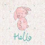 Кролик шаржа вектора Иллюстрация вектора