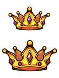 Крона год сбора винограда heraldic Стоковое фото RF