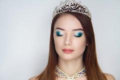 Крона женщины серебряная Стоковое Фото