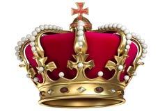 Крона золота с самоцветами Стоковые Фотографии RF