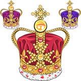 Крона золота вектора установленная Стоковые Фото