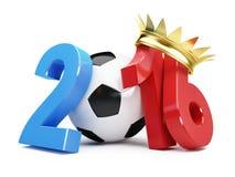 Крона 2016 золота футбола Франция бесплатная иллюстрация