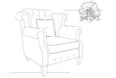 крона кресла Стоковое Изображение RF