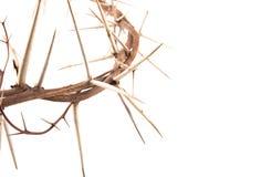 Крона терниев и креста стоковое фото