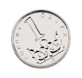 крона чех одно монетки стоковые фотографии rf