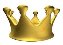 крона b золотистая Стоковое Изображение