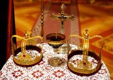 Кроны в церков Стоковые Изображения