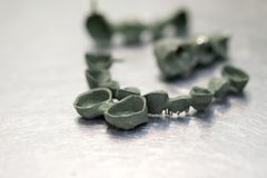 Кроны зуба зубоврачебные созданные на принтере 3d для металла Стоковое Изображение RF
