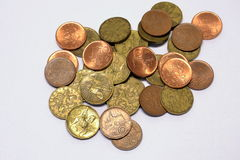 Кроны чеха монеток Стоковое фото RF