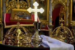 Кроны для свадьбы церков Стоковая Фотография RF