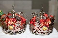 2 кроны для wedding Стоковые Фото