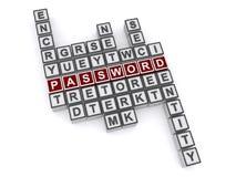 Кроссворд пароля иллюстрация вектора