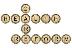 Кроссворд реформы здравоохранения Стоковая Фотография
