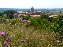 Крошечная южная французская деревня Стоковая Фотография RF