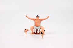 Крошечное борца Sumo Стоковые Изображения
