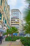 Крошечный сад в улице Омара Lotfy, Александрии, Египте Стоковые Изображения