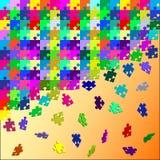 Крошить головоломка состоя из индивидуальных диаграмм Стоковая Фотография RF