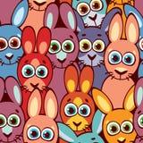 кролики картины безшовные Ребяческие обои и ткань Стоковое Изображение