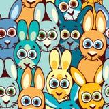 кролики картины безшовные Ребяческие обои и ткань Стоковое Фото