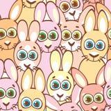 кролики картины безшовные Ребяческие обои и ткань Стоковые Изображения