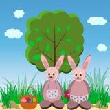 Кролики пасхи Стоковая Фотография RF