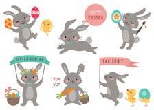 Кролики пасхи иллюстрация вектора