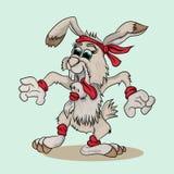 Кролик делая спорт Стоковое Фото