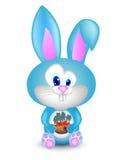 Кролик и ведро шаржа моркови Стоковая Фотография RF