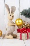 Кролик и подарочные коробки игрушки Стоковая Фотография RF