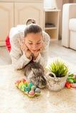 Кролик пасхи в доме Стоковые Фотографии RF