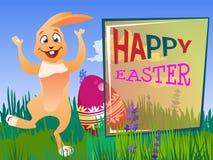 Кролик пасхи с яичком Стоковые Фото