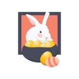 Кролик пасхи также вызвал зайчика пасхи или зайцев и пасхальные яйца Стоковое Фото