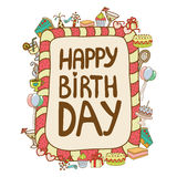 кролик подарка поздравительой открытки ко дню рождения Стоковое фото RF