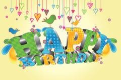 кролик подарка поздравительой открытки ко дню рождения Стоковые Фото