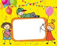 кролик подарка поздравительой открытки ко дню рождения Стоковые Фотографии RF